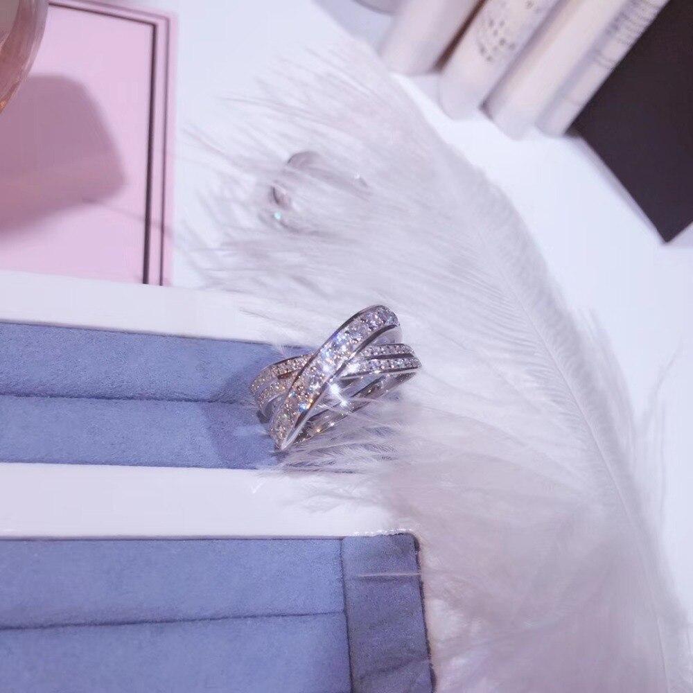 YKD209 anel embutidos com zircão Anel De noivado de Luxo 925 das Mulheres