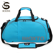 Gym-Bag Backpack Travel-Handbag Nylon Large-Capacity Waterproof Sports Unisex with Shoes-Storage