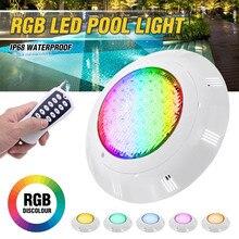 RGB светодиодный светильник для бассейна 45 Вт 450 светодиодов IP68 водонепроницаемый наружный подводный светильник для пруда светодиодный свет...