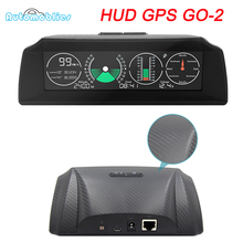 GO 2 GPS Escort velocità misuratore di pendenza inclinometro auto HUD Head-Up Display OBD2 angolo goniometro altitudine bussola intelligente