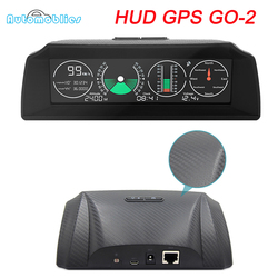 GO 2 GPS Escort Speed Slope Meter Inclinometer Car HUD Head-Up Display OBD2 Angle Protractor Latitude Longitude Smart Compass