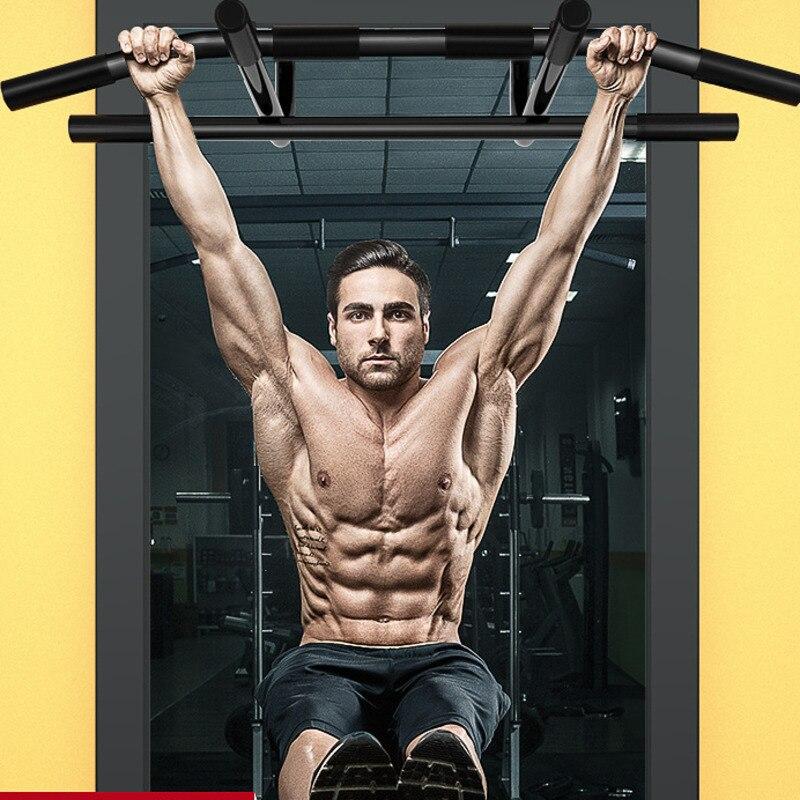 Дверь горизонтальный бар тело тренировки силовое оборудование для фитнеса сталь регулируемый стержень 200 кг нагрузка Pull Up Бар для дома спор