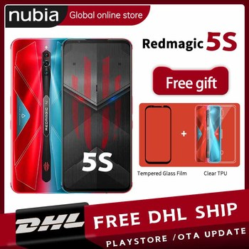 Купить Прямая поставка глобальная версия Nubia Red magic 5S 128 ГБ 8 ГБ игровой смартфон 5G 256 ГБ 12 Гб Redmagic 5S Snapdragon 865 NFC 6,65дюйм