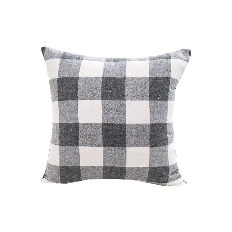 multi size plaid striped home sofa <font><b>cushion</b></font> <font><b>covers</b></font> 30*50 40x40 45x45 <font><b>50x50</b></font> 55x55cm without inner lattice home pillow <font><b>covers</b></font> X77 image