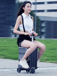 Case Luggage-Box Riding-Suitcase-Bag Scooter Rideable-Trolley Travel Electric Cabin Intelligent-Rolling