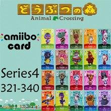 Пересечение животных подлинных данных новые горизонты игры Марио карты для NS переключатель 3DS игра набор NFC карт Series4 321-340 матовый материал