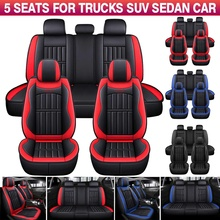 Cushion-Protector Seat-Cushion Universal 5-Seater Front SUV 11pcs PU Truck Full-Set Deluxe