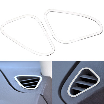LEEPEE Auto Air Conditioning Vent Trim Sticker Decorative frame For Ford Focus 2 MK2 2005 2006 2007 2008 2009 2010 2012 2013 image