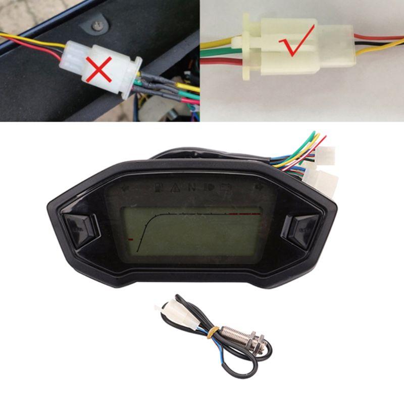 Velocimetro moto rcycle speed ometer цветной ЖК цифровой измеритель скорости одометр тахометр с датчиком скорости Универсальный