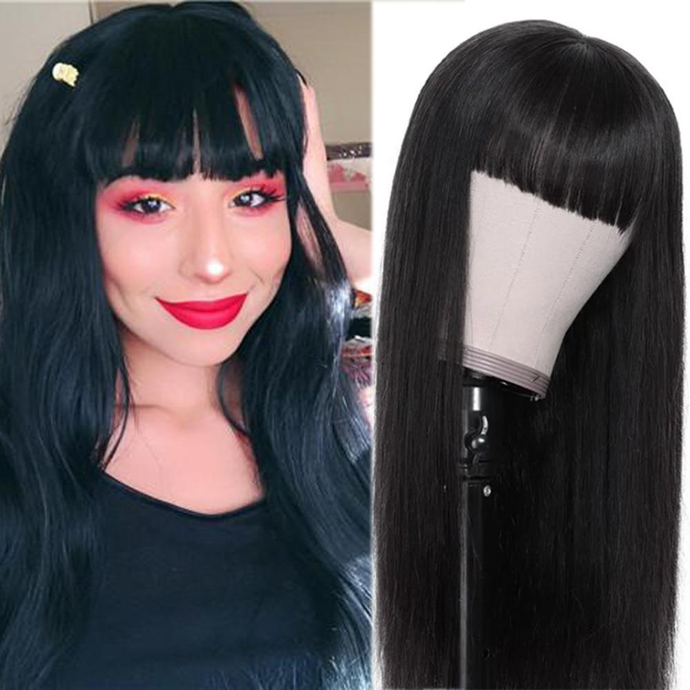 perucas sinteticas retas com franja preto colorido 04