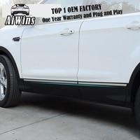 Aiwins FOR Ford Kuga 2013-2017 스테인레스 스틸 사이드 도어 바디 장식 몰딩 커버 트림 보호 자동차 스타일링