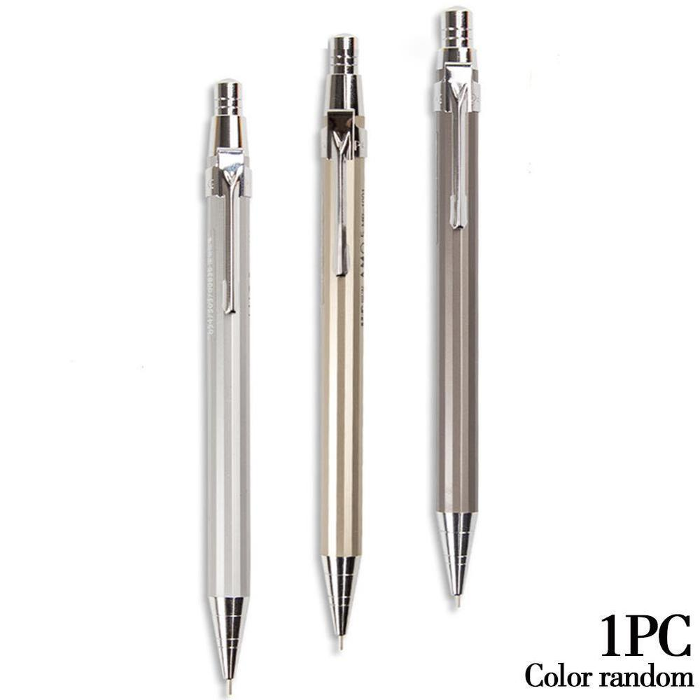 1pcs 0.7mm Graphite Drafting Metal Writting Automatic Mechanical Pencil School Office Supplies Stationery