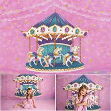 Mocsicka розовый карусель тема девушка день рождения фотографии