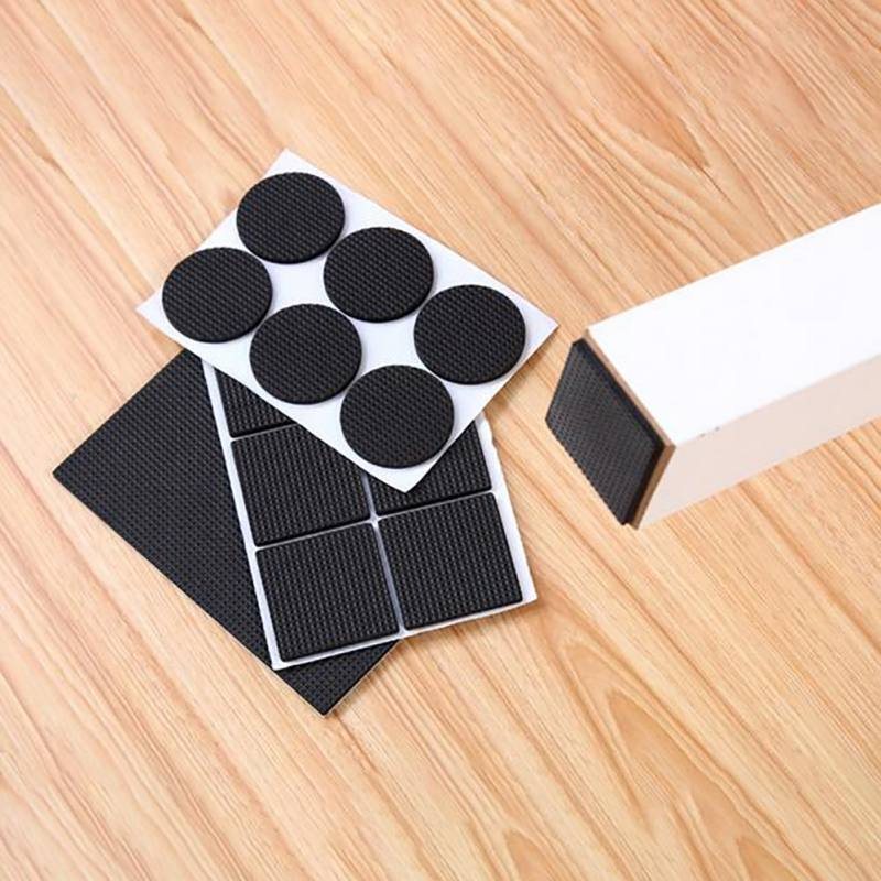 Non Slip Silent Furniture Pads Self Adhesive Feet Cover Floor Protector For Recliner, Bed, Couch, Sofa, Chair Furniture Legs