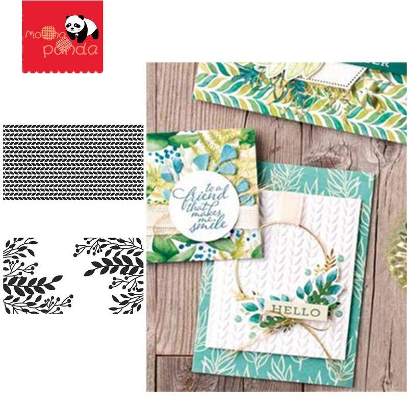 GREENERY Embossing Folders Plastic For Scrapbooking DIY Template Fondant Cake Photo Album Card Making