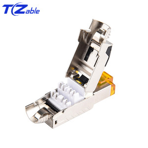 Image 3 - Cat7 RJ45 Ethernet Cable Connector Tool Free Crimping Shielded Ethernet Adapter 8p8c RJ45 Terminal Plug Networking Connectors