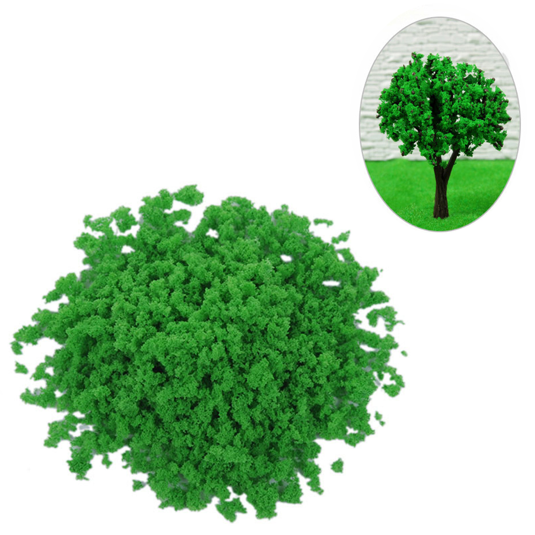 300G Sponge Tree Powder Granular Tree Powder DIY Sand Table Building Model Material - Purple/Red/Orange/Blue/Dark Green