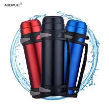 Double-Wall Stainless Steel Insulated Thermos Bottle 2L/3L Travel Coffee Mugs Thermal Vaccum Water Outdoor Sports