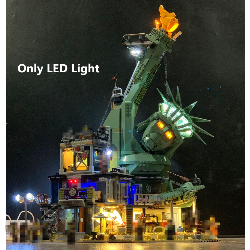 Only light LED Light For MOVIE 2 Welcome to Apocalypseburg 70840 Building Blocks Kit Bricks Classic Model Toys 45014 in Blocks from Toys Hobbies