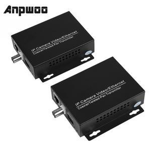 Extensor de cabo ethernet e hd anpwoo, 1 par de câmeras de segurança cctv