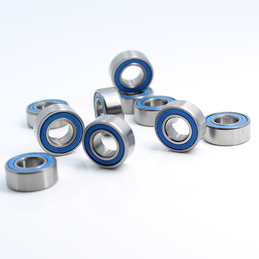 MR105RS Bearing ABEC-3 (10PCS) <font><b>5*10*4</b></font> mm Miniature MR105-2RS Ball Bearings RS MR105 2RS With Blue Sealed L-1050DDU image