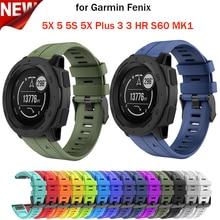 26 22 20MM Bracelet de montre à dégagement rapide pour Garmin Fenix 5 5X 3 3HR 6X 6 6S Bracelet de montre Silicone remplacement sangles faciles à ajuster