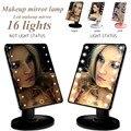 Светодиодный зеркало для макияжа  настольная зеркальная лампа  светящаяся Портативная Складная увеличительная USB лампа для ванной комнаты ...