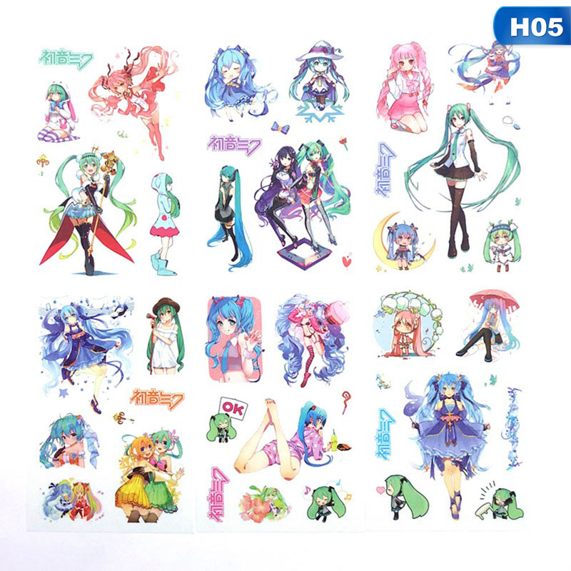 6 Sheets/Set Japanese Anime Manga Accounts And Paper Tape Decorative Sticker Scrapbooking DIY Diary Album Label Stickers