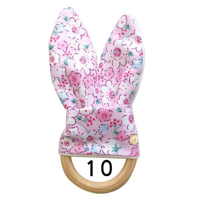 Милый детский Прорезыватель деревянное кольцо зубное кольцо детский прорезыватель зуб упражняющая игрушка - Цвет: J