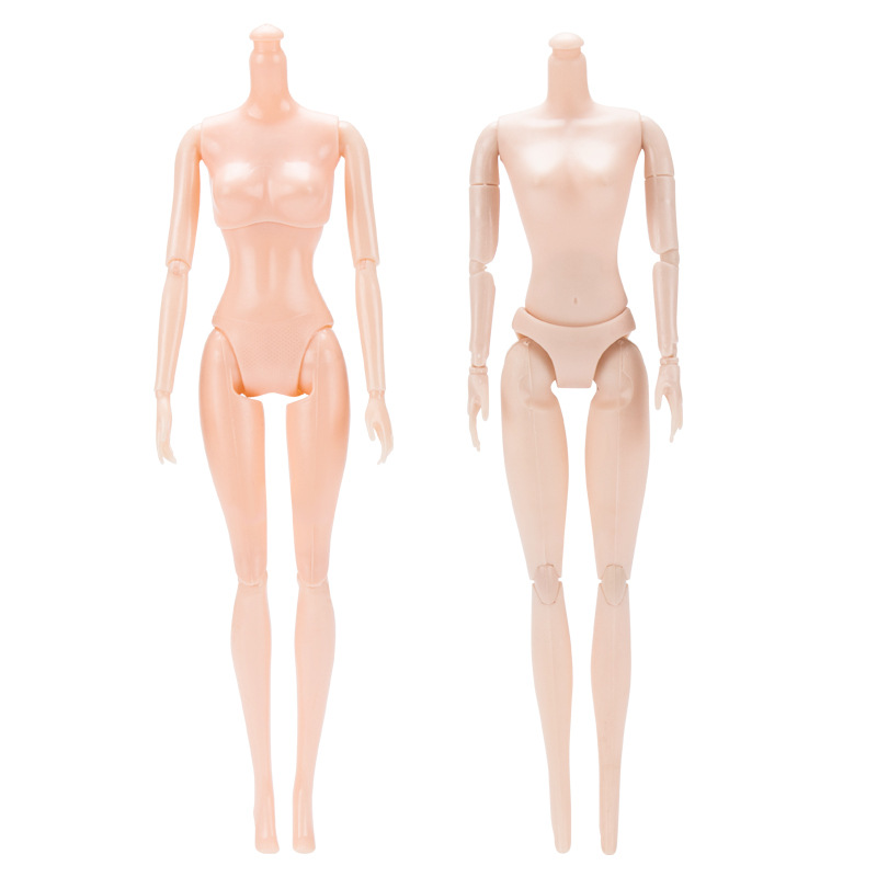 1PCS 12 Joints Doll Without Head Doll Female Naked Body Necessary For DIY All Joints Moveable Body Toy Doll For Girls