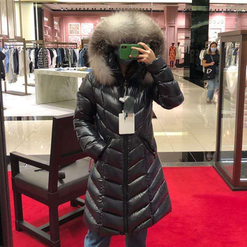 Winter Warm 90% White Duck Down Parka Women Large Real Natural Fox Fur Collar Hooded Long Thicken Jackets And Coats Down Outwear artka 2019 winter new women flower embroidery 90% white duck down coat fox fur collar hooded thicken long down coats zk10698d