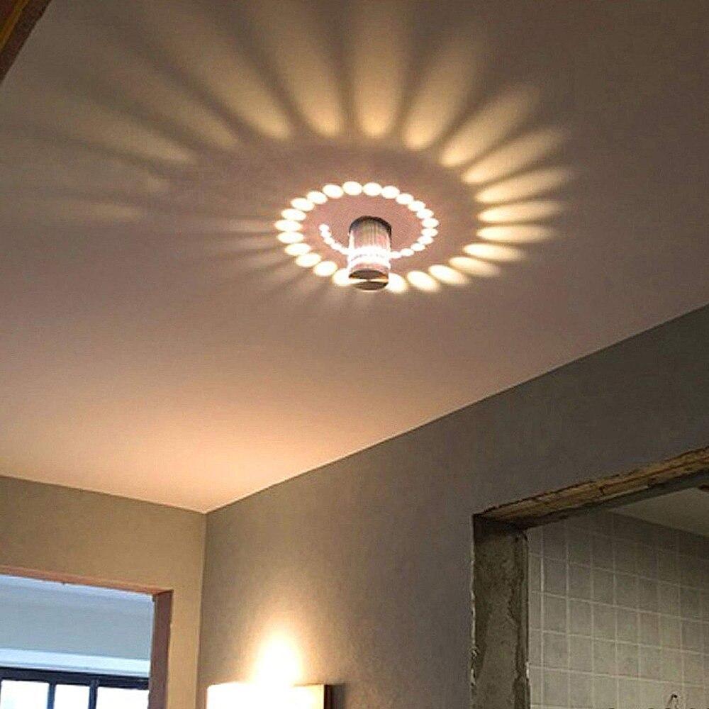 3w Led Wall Light Indoor Aluminum Modern Effect Wall Lamp For Babyroom Living Room Bathroom Bedroom Corridor Wall Lighting Warm