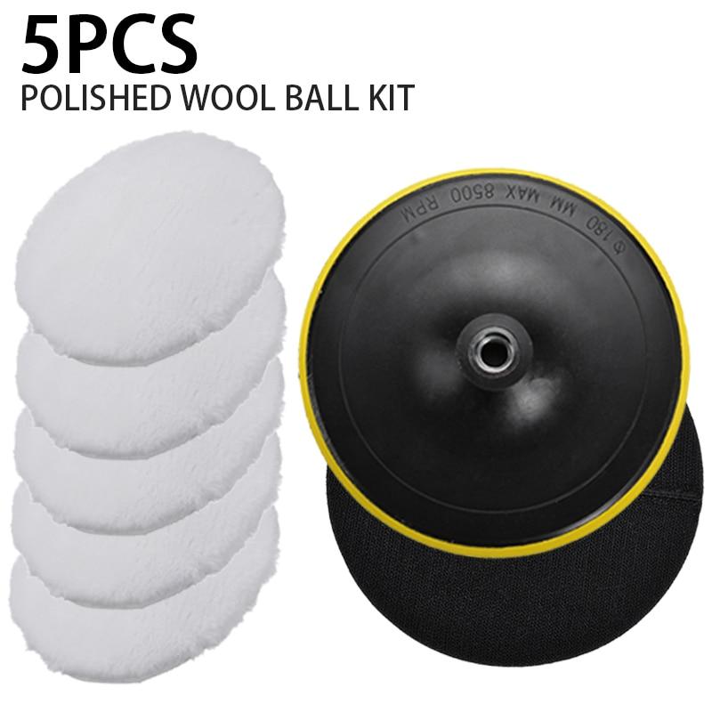 5pcs 7 Inch 180mm Car Polishing Pad Buffing Waxing Boat Car Polish Buffer Drill Wheel Polisher Removes Scratches New