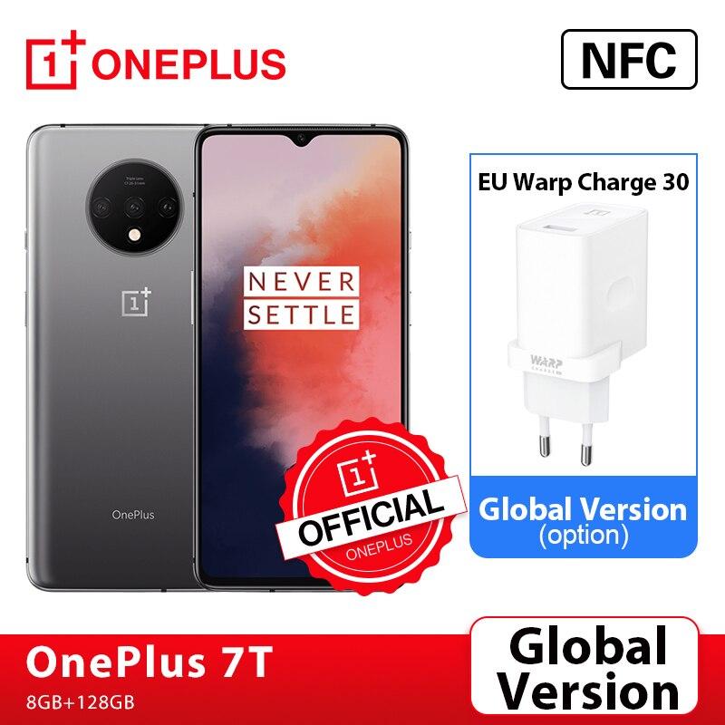 Глобальная версия OnePlus 7 T, 7 T, 8GB Смартфон Snapdragon 855 Plus 90 Гц активно-матричные осид, Экран 48MP тройной Камера OnePlus официального магазина Carter's