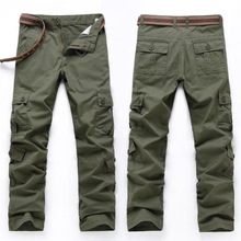 Men Cargo Pants High Quality Casual Loose Multi Pocket Camou