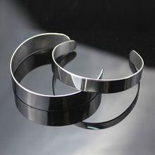 10Pcs Titanium Blank Stamping Bracelet DIY Leather Cuff Bangles Jewelry Making bracelet blank copper hand stamping blanks bracelet cuff flat bracelet blanks 18 gauges 5 each lot