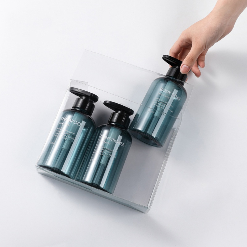 3pcs/set 300ML/500ML Soap Dispenser Bottle Bathroom Shampoo Bottle Large-capacity Press Type Lotion Body Soap Empty Bottle Set