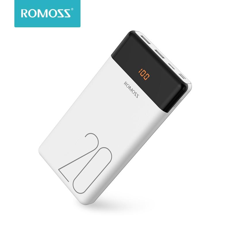 20000mAh ROMOSS LT20 Power Bank Dual USB Power Externe Batterie Mit LED Display Schnelle Portable Ladegerät Für Handys Xiaomi