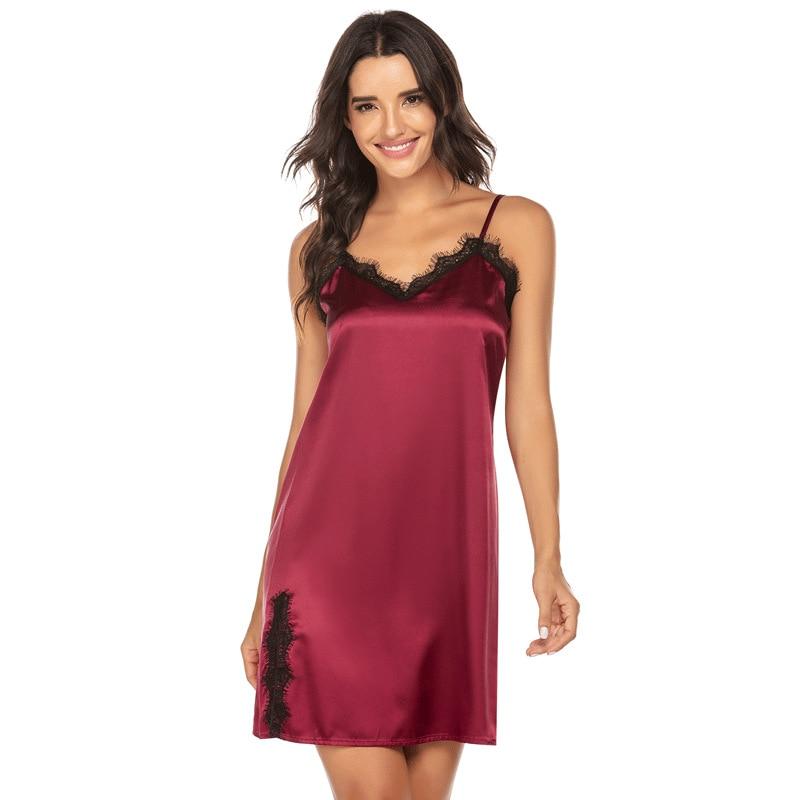 Image 5 - Sleepwear women sexy Plus Size S XXL night dress  Casual Lounge nightgowns lingerie dress Women Clothes Summer 2020Nightgowns & Sleepshirts   -