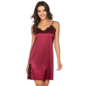 Image 5 - Sleepwear women sexy Plus Size S XXL night dress  Casual Lounge nightgowns lingerie dress Women Clothes Summer 2020