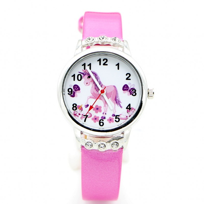 New Arrival Cartoon Women Kids Children Watch Girls Ladies Wristwatch Quartz Diamond Unicorn Desgin Watches Relogio Kol Saati