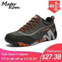 35-45 amoureux en plein air Trekking chaussures hommes chaussures de randonnée imperméables bottes de montagne en cuir véritable bois chasse chaussures tactiques