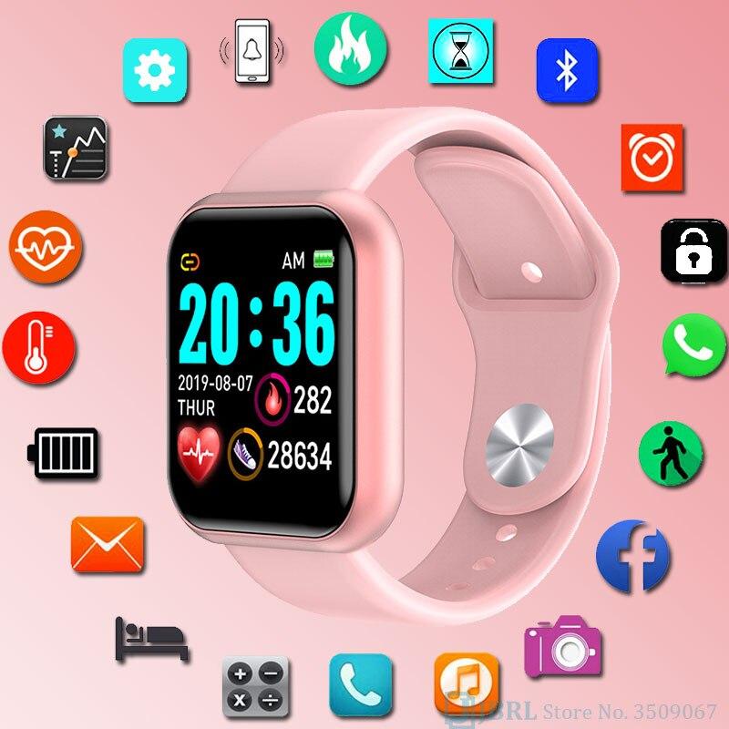 Square SmartWatch Women Men Fitness Tracker Sport Watch Electronic Wrist Watch For Andriod Ios Smart Clock Female Smart Watch