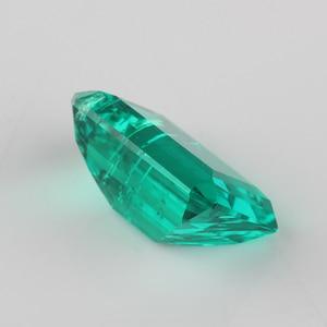 Image 4 - Высококачественная лабораторная восьмиугольная огранка изумруда 7x5mm 15x11mm, гидротермальный Изумрудный камень для ювелирных изделий