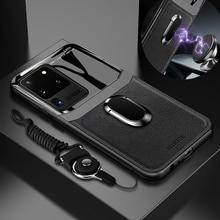 Coque en cuir et verre antichoc pour Huawei, compatible modèles P 40, P40, P30 Lite Pro, Nova 5, 4, 3, 6, 7, 5t, SE Pro