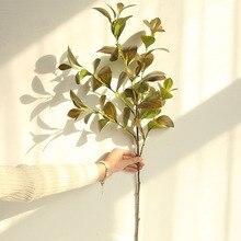 89cm latex watercress plant Milan leaf artificial flower decor home garden DIY wedding Christmas decor plant wall material grass цена и фото