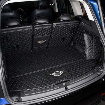 For MINI ONE Cooper F55 F56 R56 Car Trunk Mat Leather Rear Luggage Floor Mat Car Accessories Interior Auto Styling Decoration