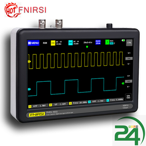 ADS1013D Digital Oscilloscope 2 Channels 100MHz Bandwidth 1GSa/s Sampling Rate Oscilloscope with Color TFT LCD Touching Screen(China)