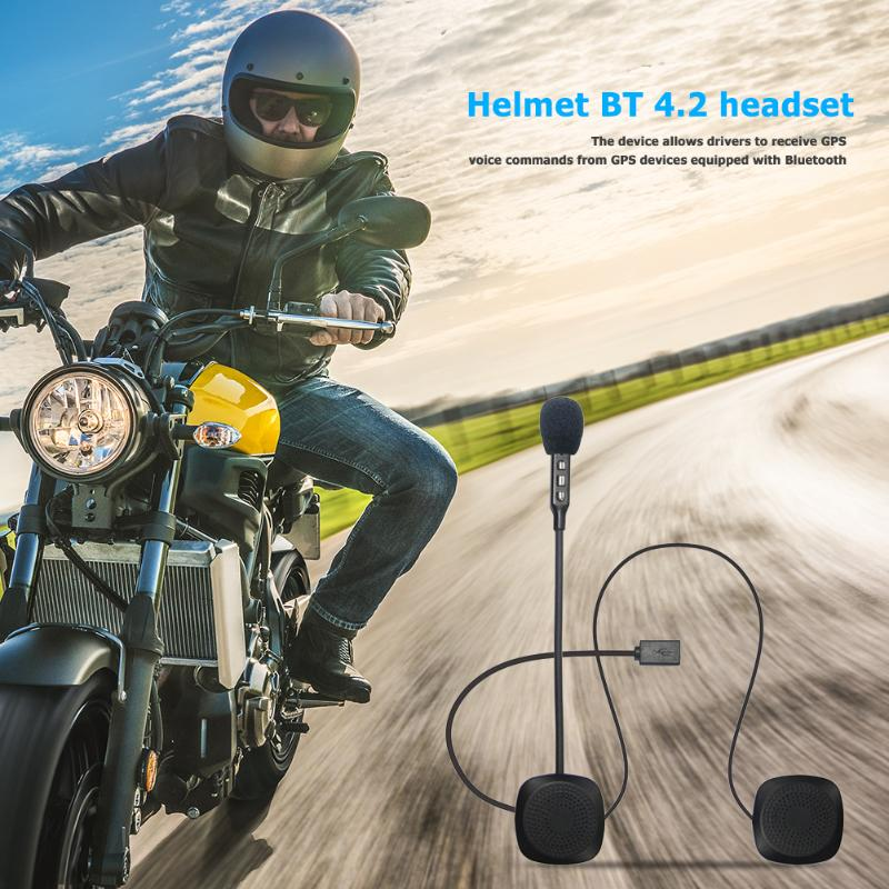 Motorcycle Helmet Headsets Bluetooth Wireless Hands-free Auto Answer Call Intercom Headphones Motorcycle Accessories
