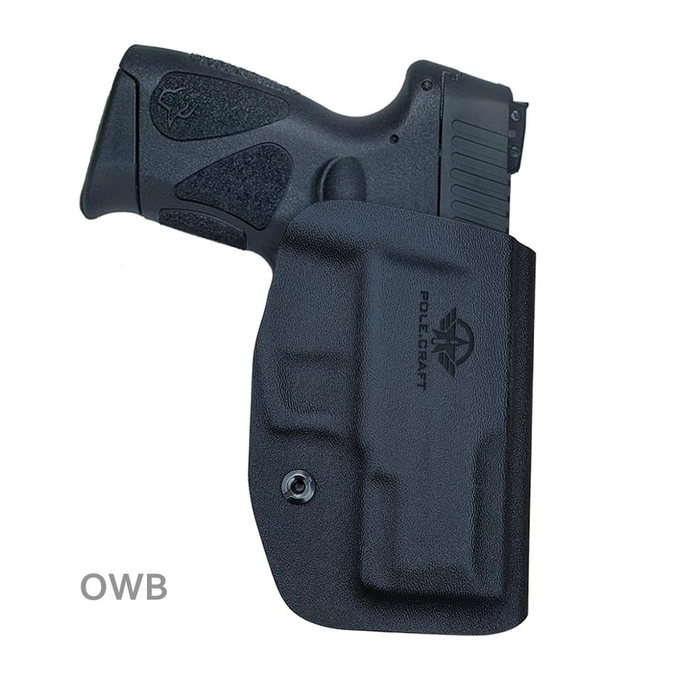 Pole.craft Kydex Holster Taurus G2c 9mm & Millennium Pt111 G2pt140 Armas Pistola Case-cós Fora Transportar Owb For